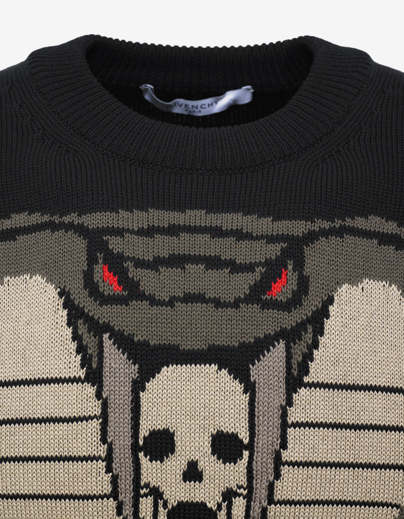 Black Cobra Graphic Sweater