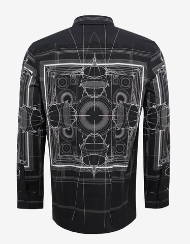 Givenchy Black Cobra Print Cuban Fit Shirt