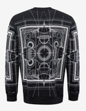 Black Cobra Print Cuban Fit Sweatshirt