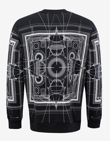 Givenchy Black Cobra Print Cuban Fit Sweatshirt