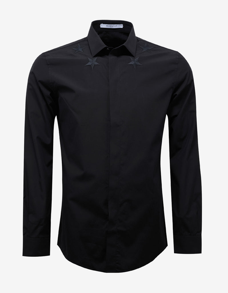Greatest Givenchy Black Contemporary Fit Shirt with Stars – ZOOFASHIONS.COM RJ78