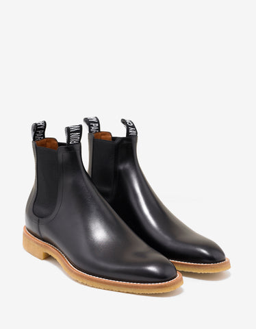 Black Logo Badge Chelsea Boots
