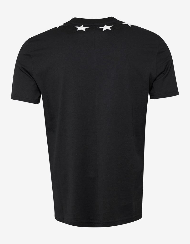 Black Cuban Fit T-Shirt with Stars