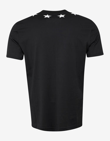 Givenchy Black Cuban Fit T-Shirt with Stars