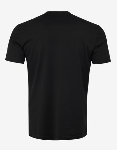 Givenchy Black Cracked Logo Slim Fit T-Shirt