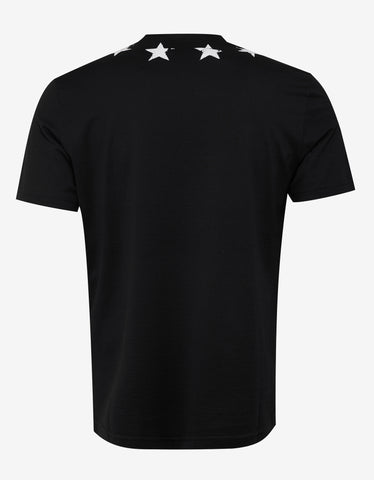 Givenchy Black Cracked Star Slim Fit T-Shirt