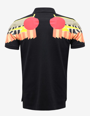 Givenchy Black Egyptian Wings Cuban Fit Polo T-Shirt