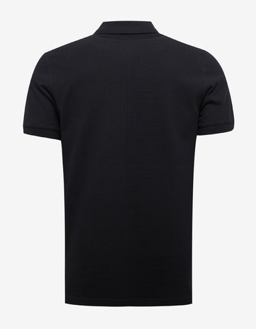 Givenchy Black Eyelet & Pyramid Graphic Polo T-Shirt