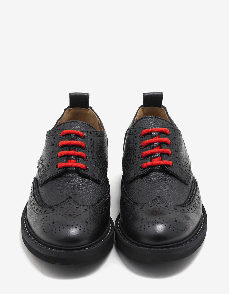 Commando Derby II Black Brogues