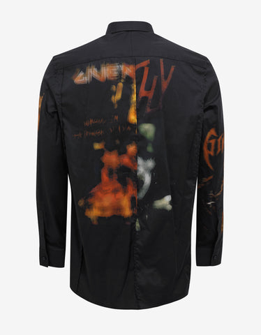 Givenchy Black Heavy Metal Columbian Fit Shirt