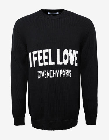 Givenchy Black 'I Feel Love' Sweater