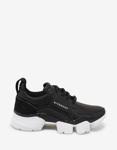 Givenchy Black Leather Jaw Trainers