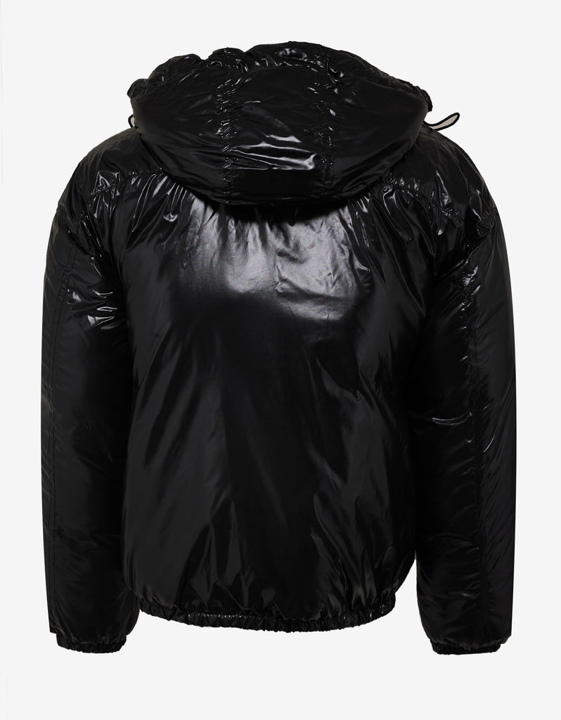 Black Light Nylon Logo Puffer Jacket