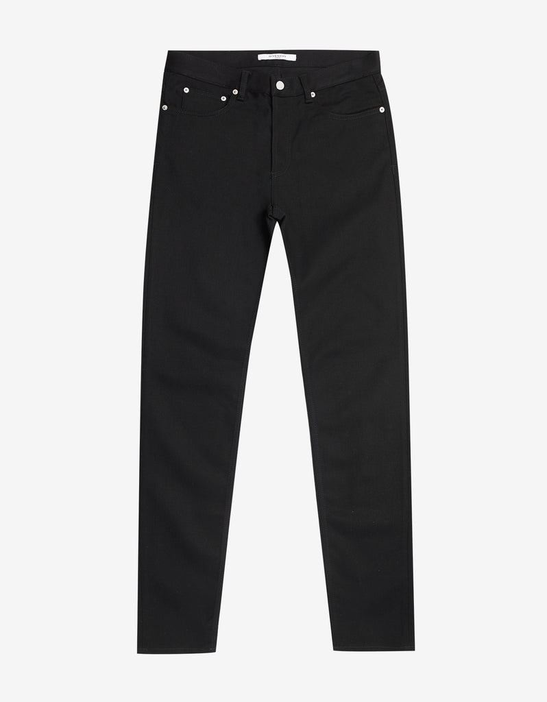 Black Logo Band Rico Fit Jeans