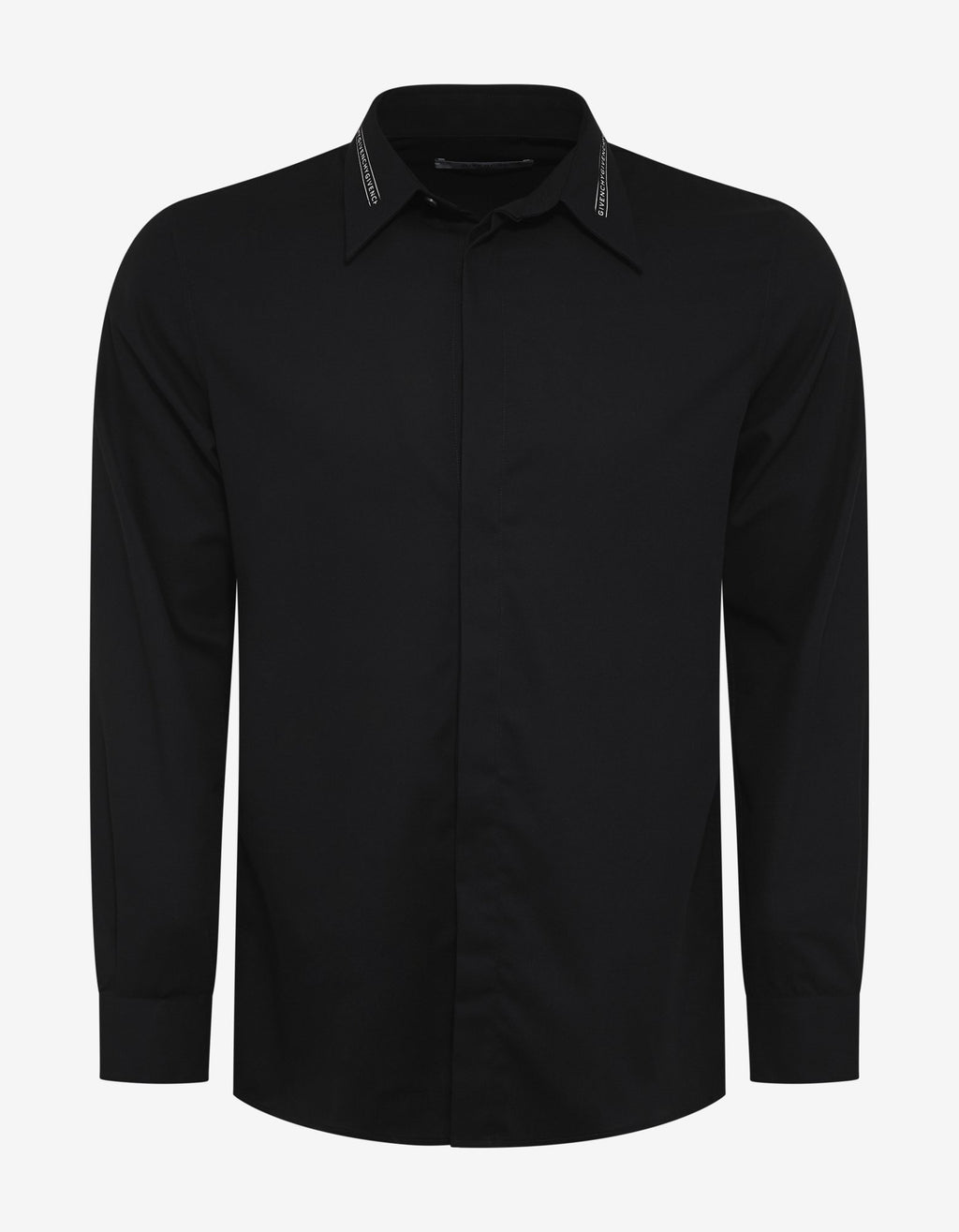 Black Logo Collar Shirt -