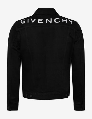 Givenchy Black Logo Denim Jacket