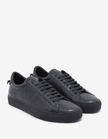 Givenchy Black Logo Embossed Low Trainers