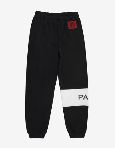Givenchy Black Logo Panel Sweat Pants