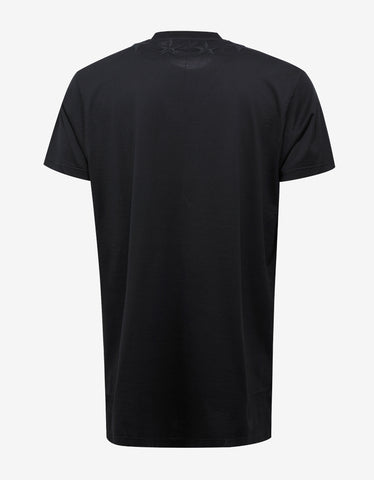 Givenchy Black Long Body Columbian Fit Star Patch T-Shirt
