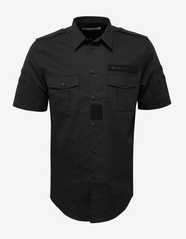 Givenchy Black Military Shirt with Velcro Patches