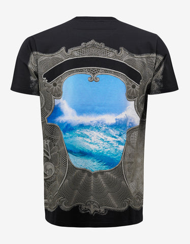 Givenchy Black Ocean & Money Print Columbian Fit T-Shirt