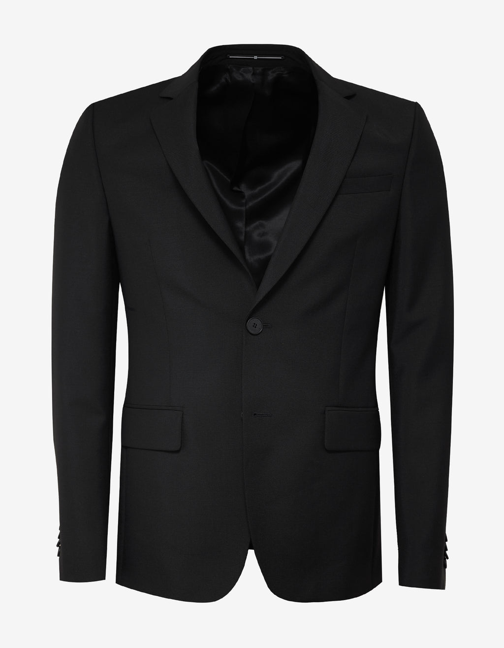 Black Mohair Blend Slim Fit Suit