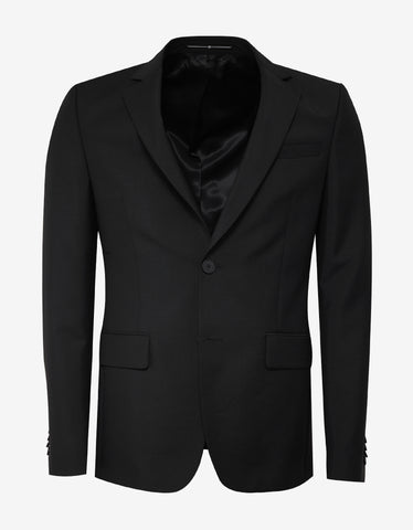 Givenchy Black Mohair Blend Slim Fit Suit