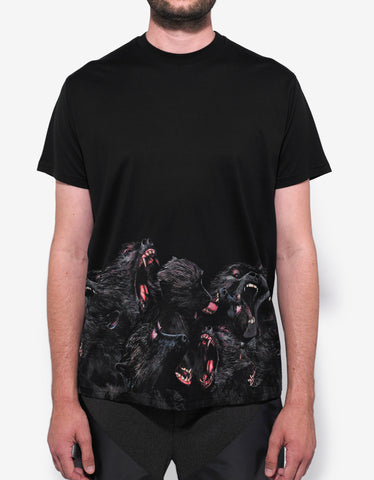 Givenchy Black Monkey Panel Columbian Fit T-Shirt