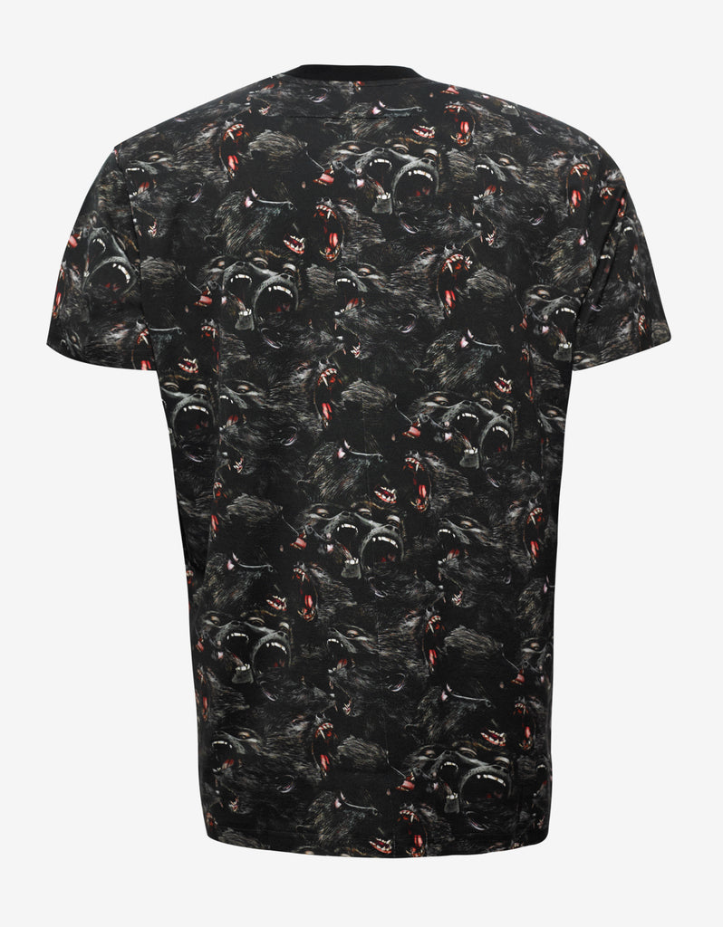 Black Monkey Print Columbian Fit T-Shirt