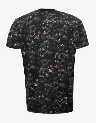 Givenchy Black Monkey Print Columbian Fit T-Shirt