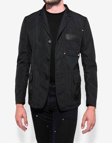 Givenchy Black Nylon Blazer