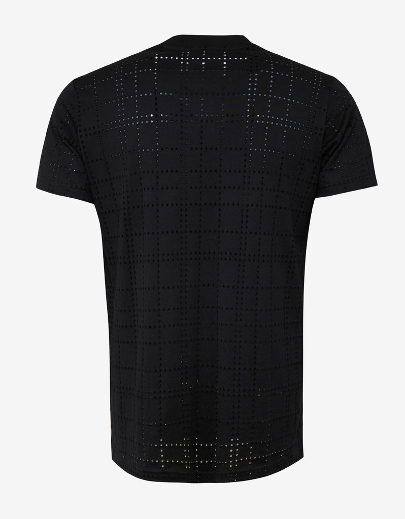 Black Perforated Modern Fit T-Shirt