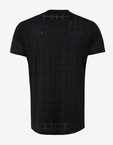 Givenchy Black Perforated Modern Fit T-Shirt