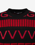 Logo Intarsia Wool Blend Sweater