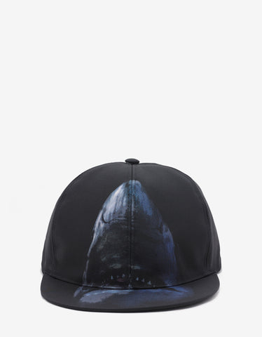 Givenchy Black Shark Print Cap
