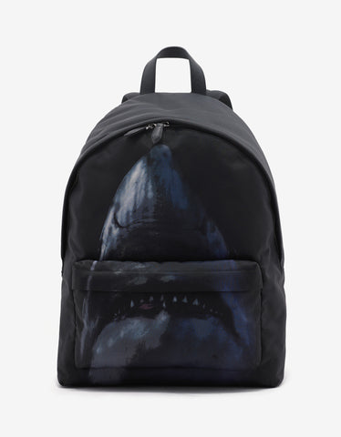 Givenchy Black Shark Print Backpack