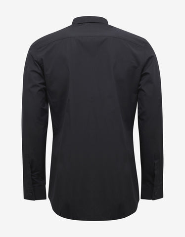 Givenchy Black Shark Print Contemporary Fit Shirt