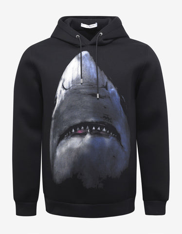 Givenchy Black Shark Print Cuban Fit Hoodie
