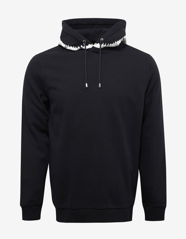 Givenchy Black Shark Teeth Print Cuban Fit Hoodie