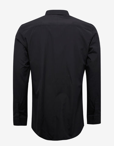 Givenchy Black Contemporary Fit Shirt with Stars & Band