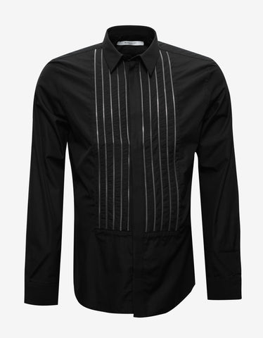 Givenchy Givenchy Black Shirt with Zip Embellishments