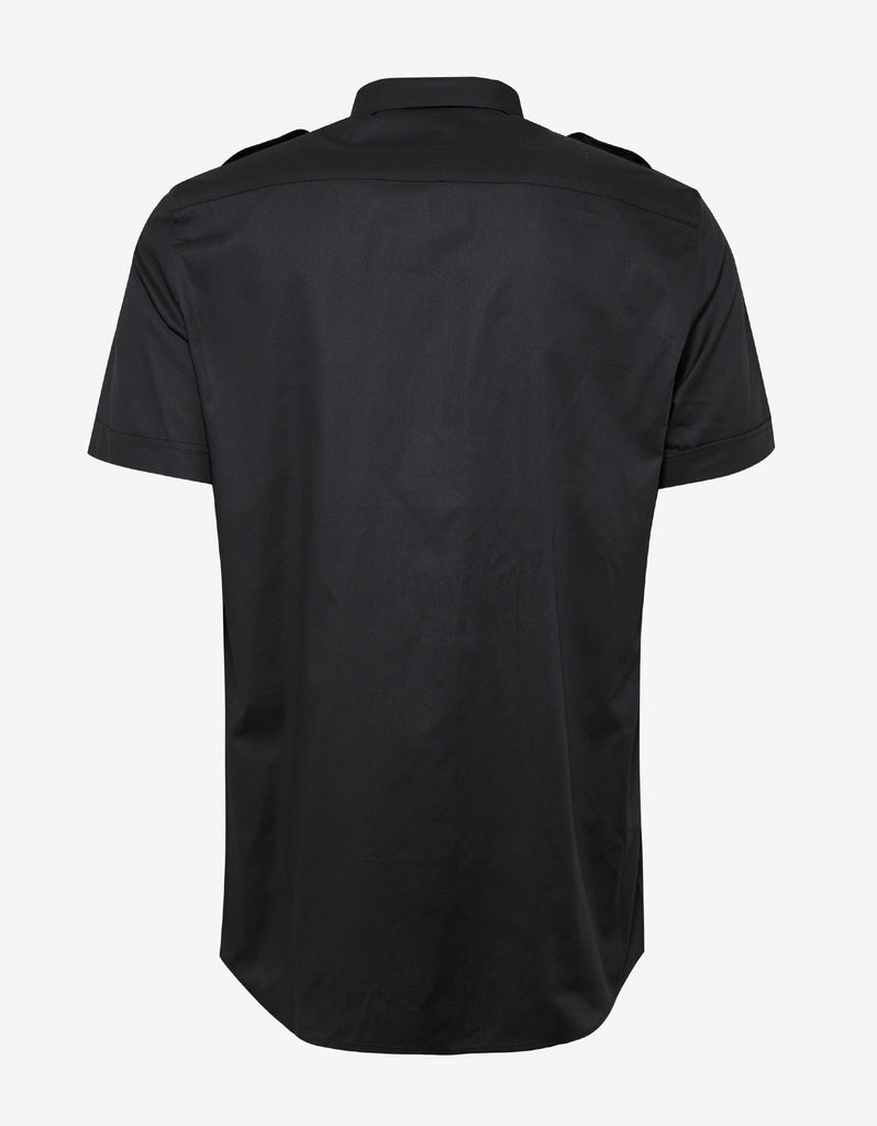 Black Short Sleeve Military Shirt