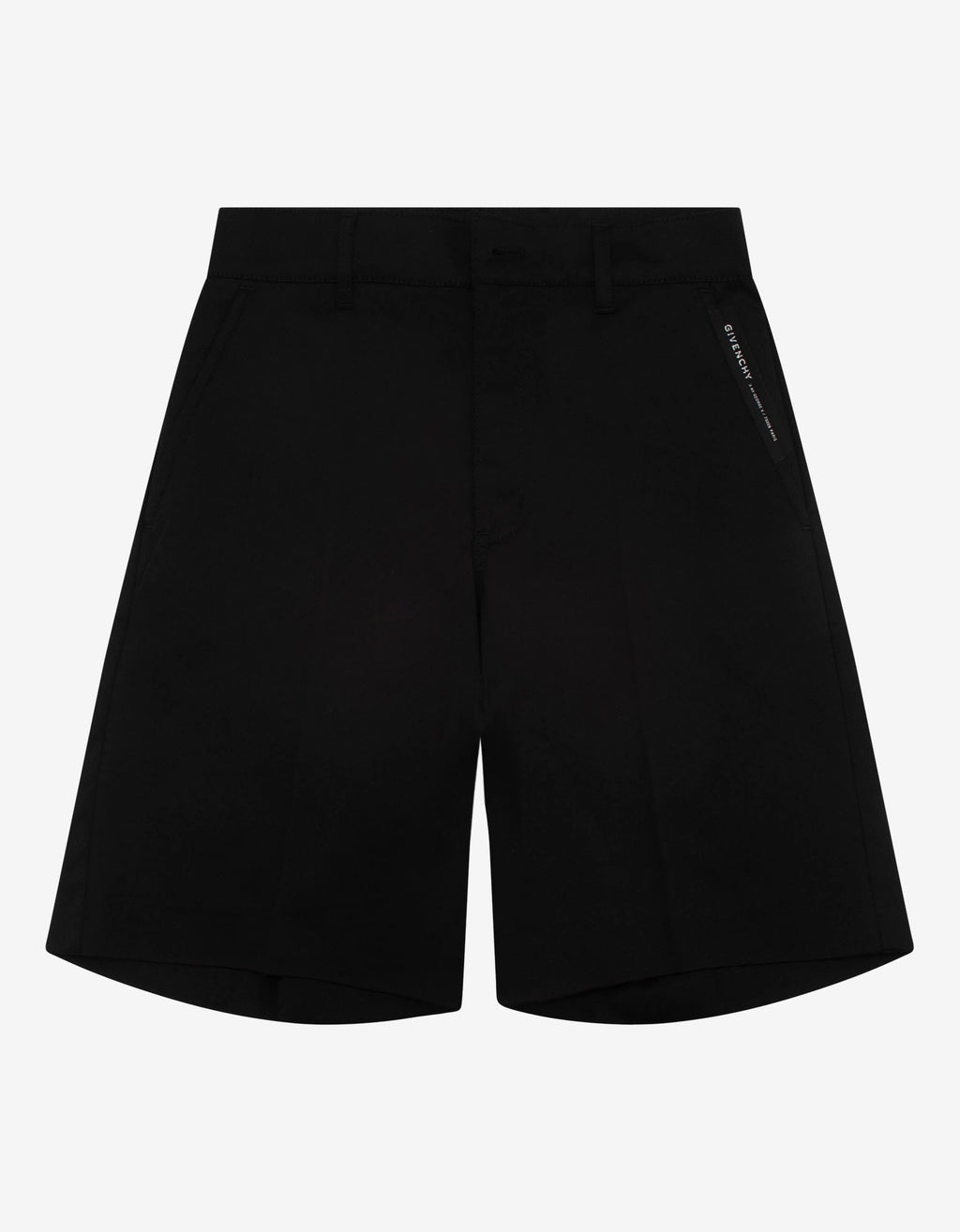 Black Side Logo Chino Shorts -