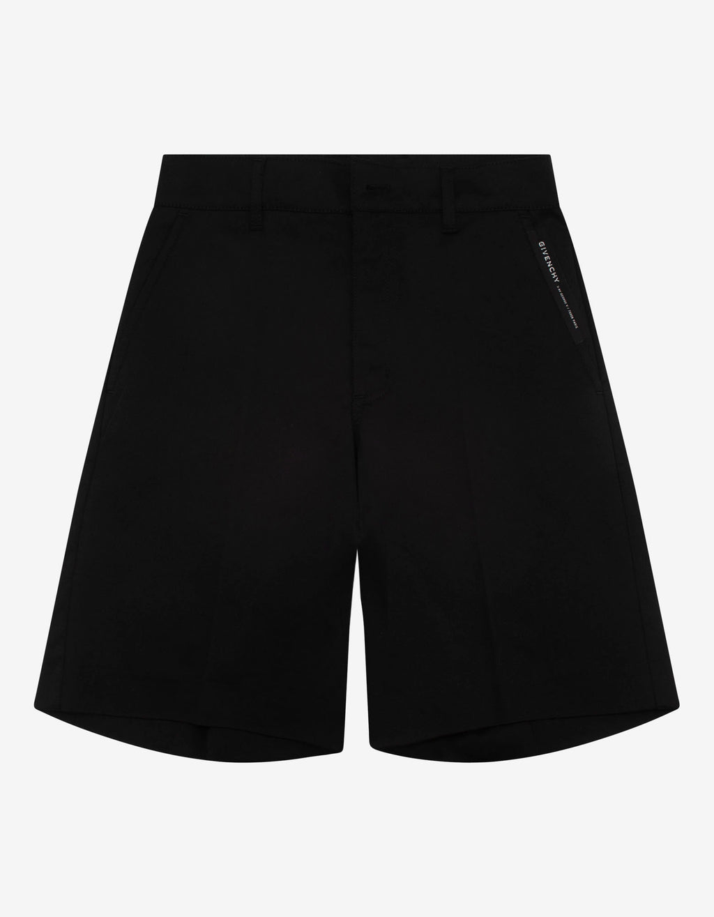 Black Side Logo Chino Shorts