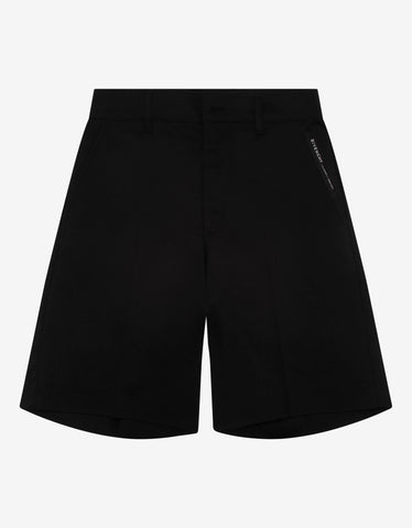 Black Logo Side Band Shorts