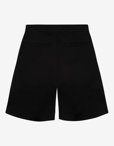 Givenchy Black Side Logo Chino Shorts