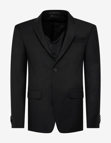 Givenchy Black Single-Breasted Wool-Blend Suit