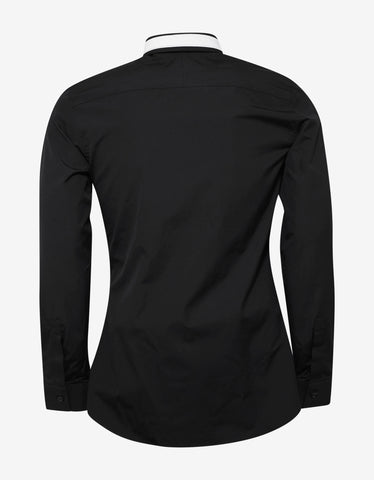 Givenchy Black Slim Fit Shirt with Stars & Band