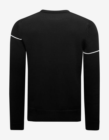 Givenchy Black Split Logo Sweater