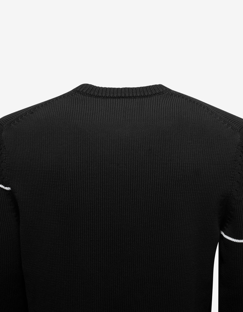 Black Split Logo Sweater
